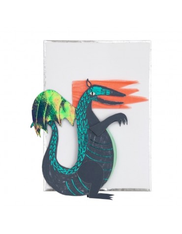 1 Carte postale Dragon Meri Meri