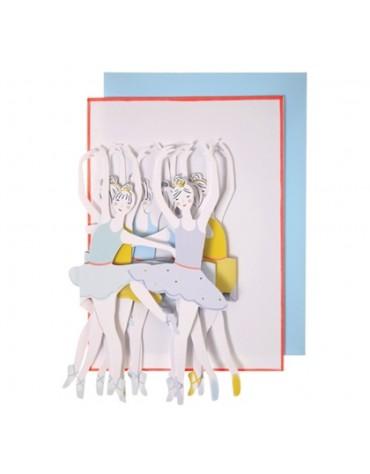 1 Carte postale Guirlande Danseuses Meri Meri