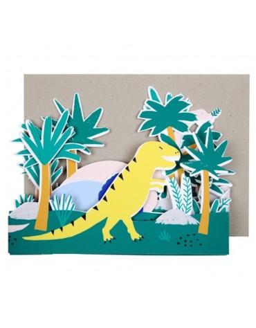 1 Carte postale Dinosaures Meri Meri
