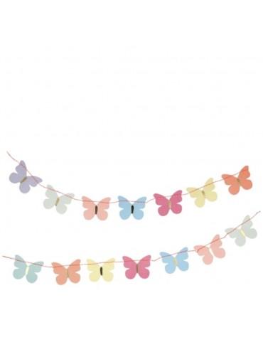 1 Carte postale Guirlande Papillons Meri Meri