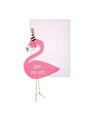 1 Carte postale Flamant Rose Meri Meri