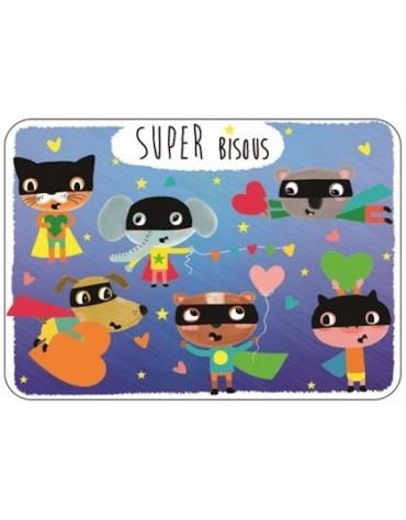 1 Carte postale Super Bisous Cartesdart