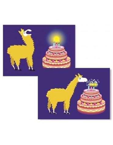 1 Carte postale Lamannniversaire magique Cartesdart
