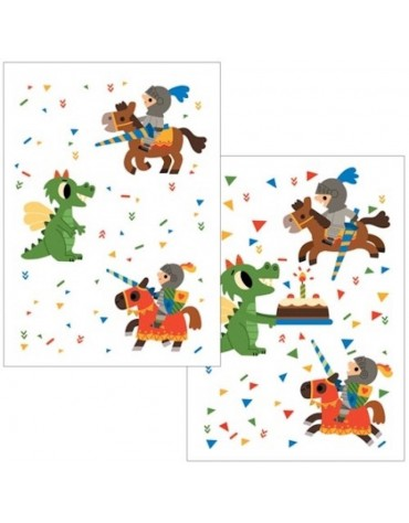 1 Carte postale Anniversaire de Chevalier Cartesdart