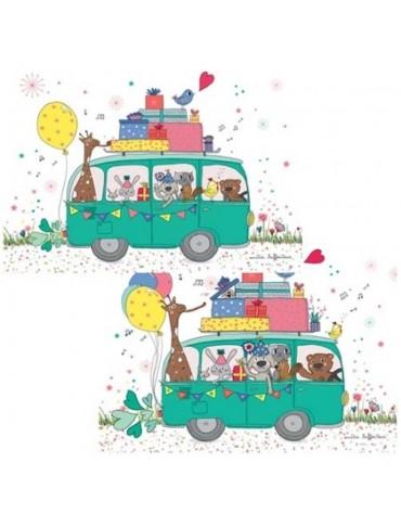 1 Carte postale Fête d'animaux Cartesdart