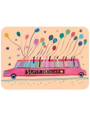 1 Carte postale Super anniversaire Cartesdart