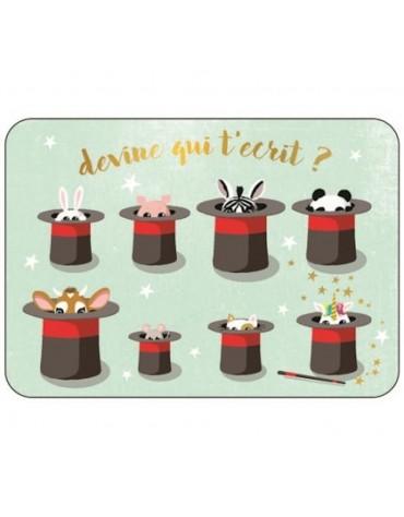 1 Carte postale Chapeau de Magicien Cartesdart