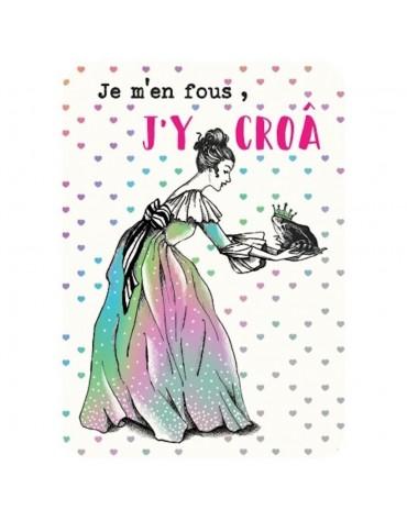1 Carte postale Princesse et Grenouille Cartesdart