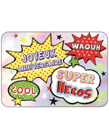 1 Carte postale  Joyeux Anniversaire Super Héros Cartesdart