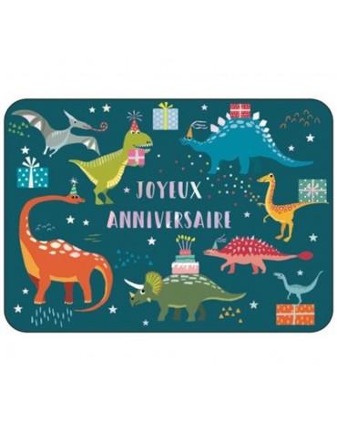 1 Carte postale Anniversaire des dinos Cartesdart