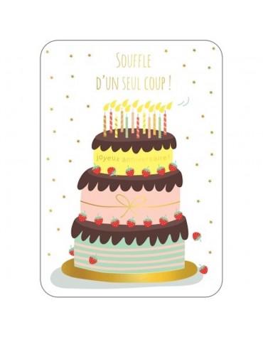 1 Carte postale Gâteau Anniversaire Cartesdart