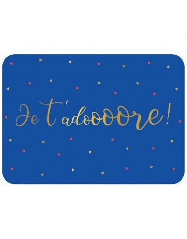 1 Carte postale Je t'adore Cartesdart