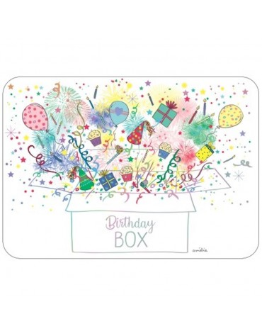 1 Carte postale Birthday Box Cartesdart