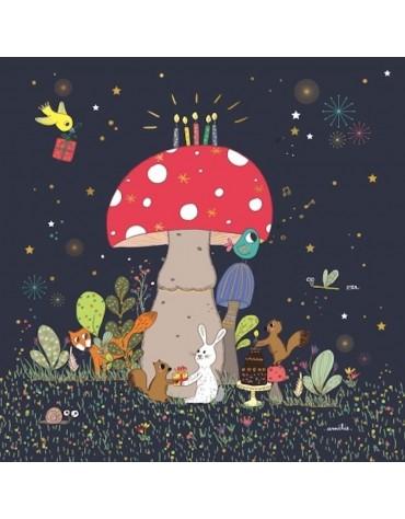 1 Carte postale Un anniversaire de nuit Cartesdart