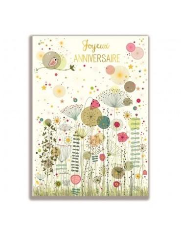 1 Carte postale Géante Joyeux Anniversaire Cartesdart