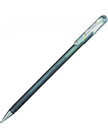 1 stylo encre gel métallic argenté