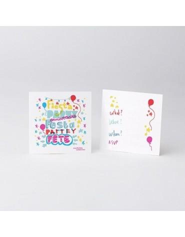 Cartes Invitation et Enveloppes Party