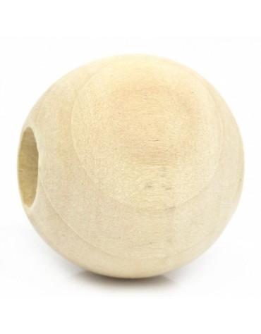 1 perle en bois diamètre 25 mm