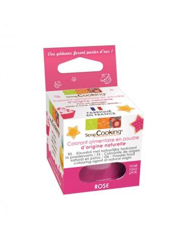 Colorant alimentaire en poudre d'origine naturelle rose