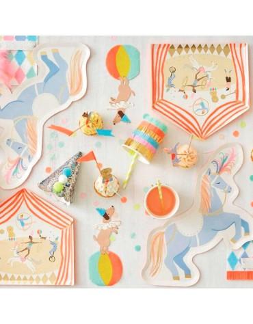 8 Gobelets en carton  à franges_ Cirque