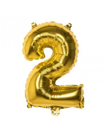 Ballon Mylar Chiffre 2