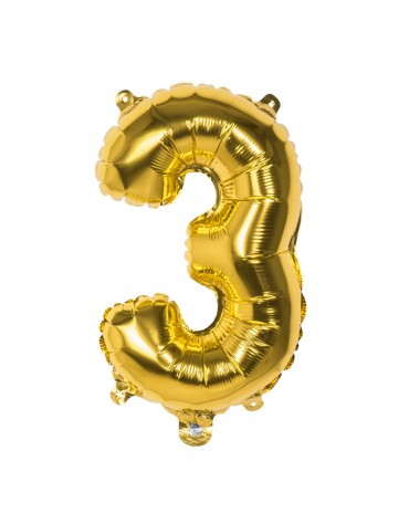 Ballon Mylar Chiffre 3