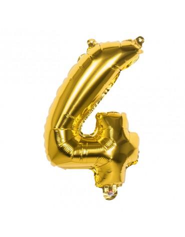 Ballon Mylar Chiffre 4
