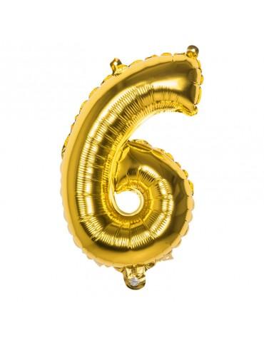 Ballon Mylar Chiffre 6
