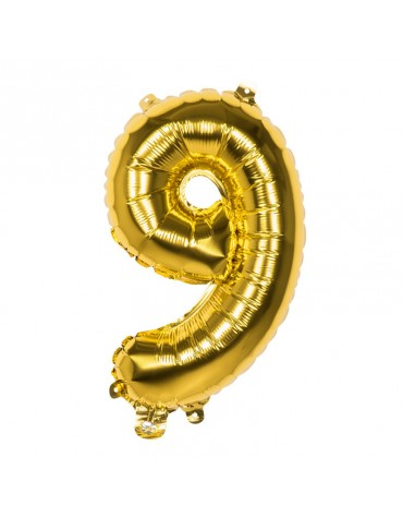 Ballon Mylar Chiffre 9