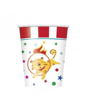 8 Gobelets en carton _ Carnaval Circus