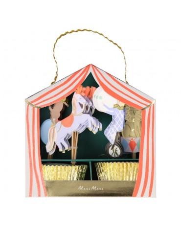 Kit 24 caissettes Cupcakes Cirque