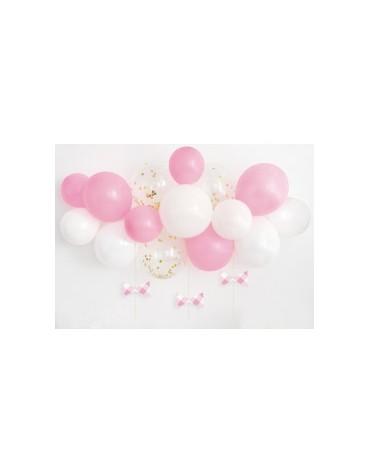 Arche à ballons Roses et blancs Déco
