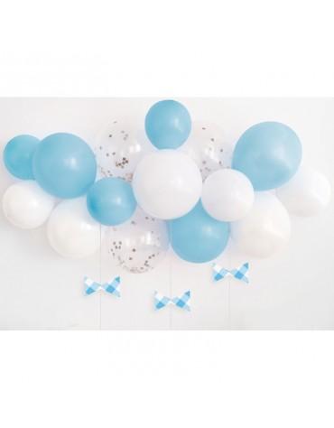 Arche à ballons Bleues et blancs déco