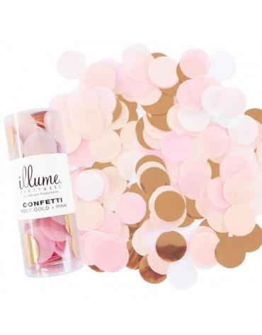 Des Confettis Roses et or